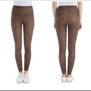 Lysse Leggings Faux Suede Brown Leggings Small